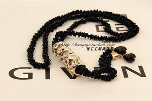 Western bling Crystal Black-fringed BLK original intellectual sweaters chain series