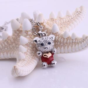 Factory direct supply personalized teddy bear alloy necklace hand painted oil jewelry wholesale