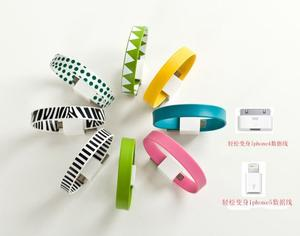 Fashion bangles bracelet gift data cable Apple fashion data cable data cable bracelet