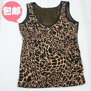 Leopard print body sculpting underwear vest thickened breast care and warm