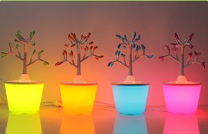 Feng Lida creative wish tree table lamp beautiful flower pot tree decorative lights romance buds of hope gift table lamp