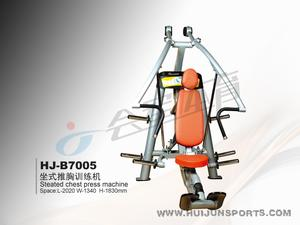 Push the lever seated chest press (with 80kg barbell piece) HJ-B7005