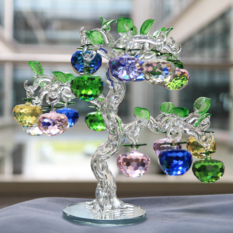 Supply crystal apple tree wedding home decorations for Apple tree decoration