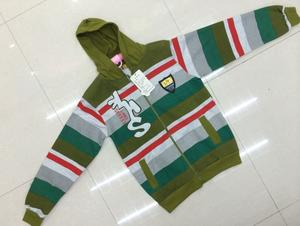 Kids Hoodie Zip Cardigan, with hood stripes, styles, color factory direct
