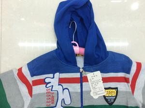 Promotional clothing Hoodie Zip Cardigan, with hood stripes, styles, color factory direct