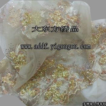 Organza embroidery organza embroidery factory processing, garment embroidery curtain organza embroidery organza fabric