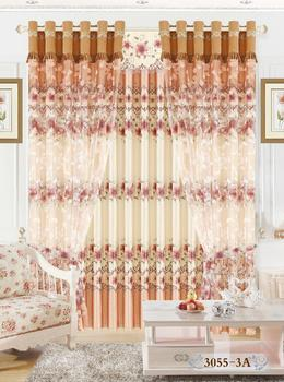 Factory direct environmental protection active 3055 printing shade cloth curtain fabric and provides professional foreign finished products processing