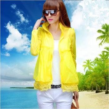 Lace summer sun in Sun protection shirts coat Cardigan thin transparent Sunscreen UV clothing-female