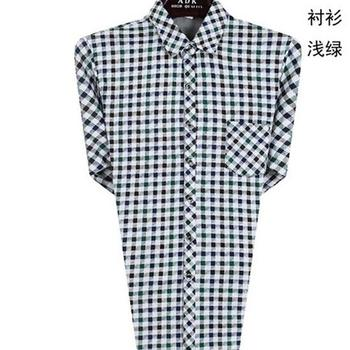 New men's shirt old mens Plaid XL cotton shirt lapel