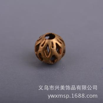 Beautiful jewelry wholesale bead flower DIY Accessories Accessories copper brass hollow bead AC00036
