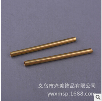 American jewelry DIY accessories brass color copper pipe straight pipe wholesale jewelry FB00254
