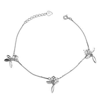 925 Sterling silver Jewelry European Charm Anklets for Women Wholesale Foot Jewelry Chain bracelet  GNJL0018