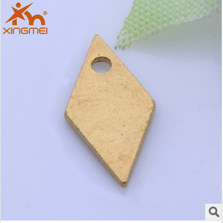 New brass plating DIY decoration accessories filled diamond planes Kong Xingmei jewelry wholesale