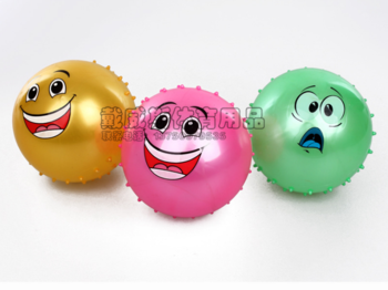 Factory direct fitness massage balls massage ball for brands in sports, fashion cute half smiling face Taobao sellers