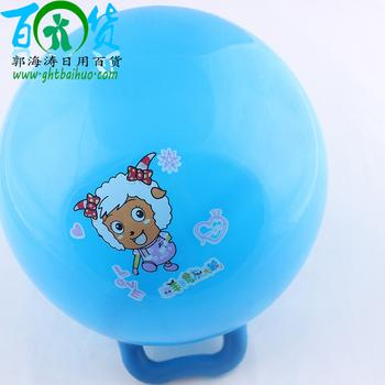 Handle ball priced direct two dollar store wholesale inflatable children's toys, Yiwu international ball