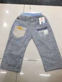 Boys summer cotton cropped pants