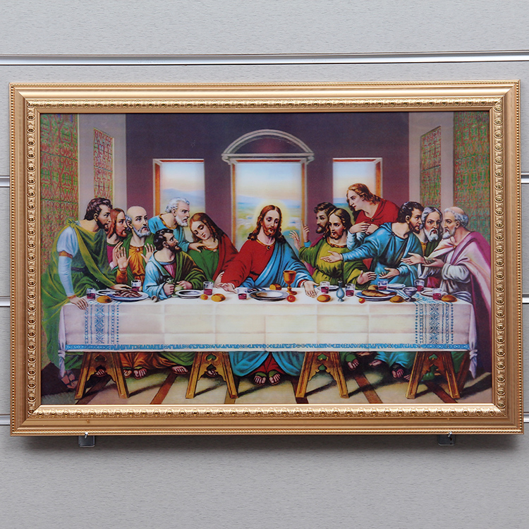 Supply Stereoscopic 3D art painting the last supper painting-
