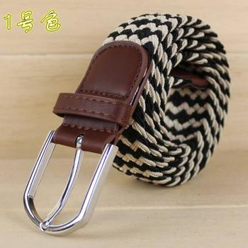 Comfortable elastic woven belts, golf street fashion explosions elastic belts 3S02080043