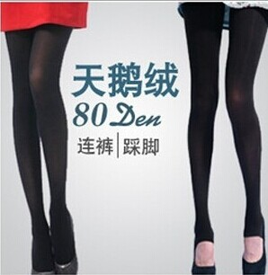 80D velvet leggings color toe socks to make sock