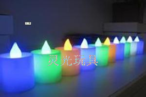 Glowing candles glitter candles? LED electronic candle Christmas party color candles decorative night light toy Flash Toys glow toys