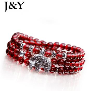 Brazil imported wine red garnet bracelet multilayer ladies natural Crystal bracelets finest jewelry with certificate