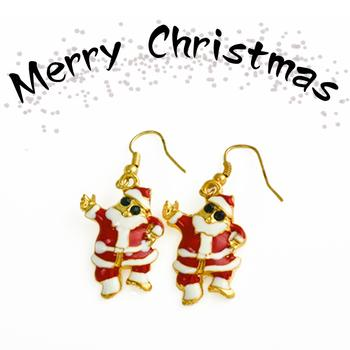 (free shipping)  Fancy Jewelry Ear Stud  Cheap earrings Chinese Dresses Santa Claus for Christmas  E0003