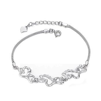 From the stars of your trendy 925 sterling silver plated baijinsanma Pentium Dual box chain bracelet GNS0356