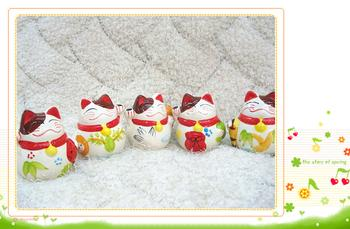 207 money pot lucky cat ornaments creative lucky cat Office opening housewarming gifts wholesale