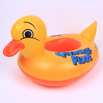 Children swimming laps, animal circle, yellow duck boat, inflatable toys