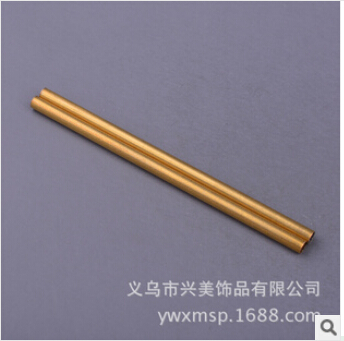 American jewelry DIY accessories brass color copper pipe straight pipe wholesale jewelry FB00215