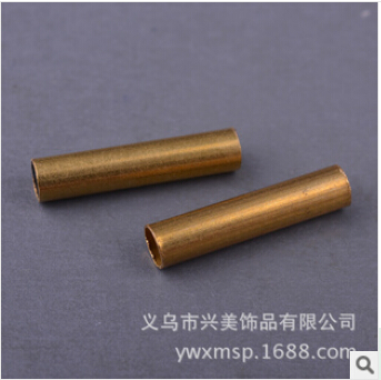 American jewelry DIY accessories brass color copper pipe straight pipe wholesale jewelry FB00139