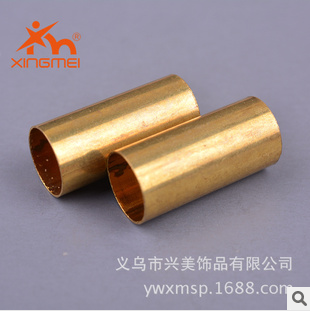 American jewelry DIY accessories brass plating color straight pipe FB00211 metal jewelry wholesale