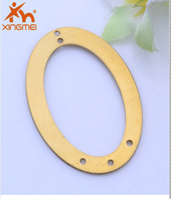 Hot new hollow elliptical fashion jewelry copper electroplating copper jewelry DIY beauty accessories factory direct