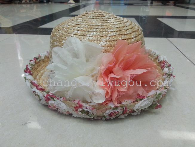 Supply Manufacturers wholesale curling flower hat straw hat