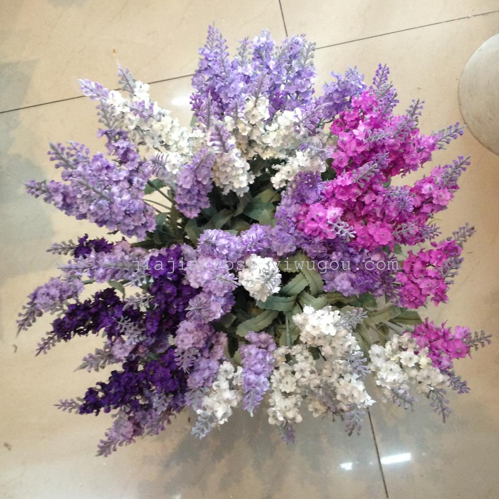 Supply 10 provence lavender bouquet 4 colors choose artificial view image of original size mightylinksfo