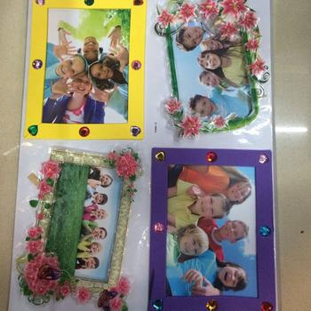 FQ series photo frames pasted layers stick flocked stickers tattoo stickers diamond pictures