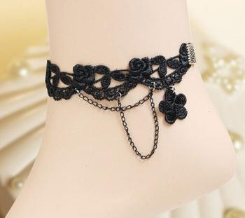 Retro flower women's casual lace anklets anklets handcrafted jewellery