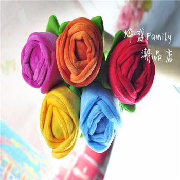 Six six colors of roses new plush toys and flowers not fading rose