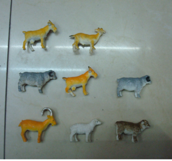 Low cost plastic sheep animal model of simulation of plastic toys