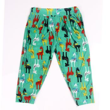 Korean version of high elastic cotton cropped leggings pants for woven fabric printing wholesale tall elastic waist Pant