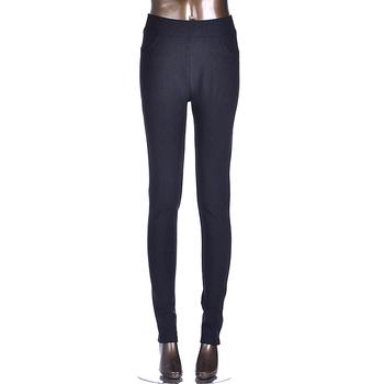 2014 Twill high crotch tights wearing skinny high waist slim Joker pencil pants feet pants wholesale