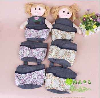 Pavilion Lai creative fashion version of the foreign baby home series of jeans three hang bags