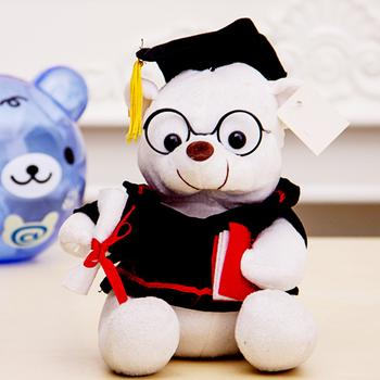 Factory Outlet Dr teddy bears, dog bear doll plush toys college graduation gifts