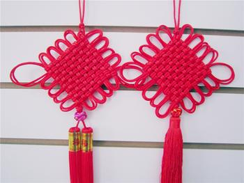 Festive Chinese knots, 4th double ten plate double-hung Su Dansu household ornaments multi-purpose type