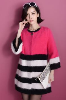 Thick coat sweater cardigan luxury temperament long dress047#