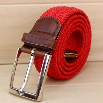 Comfortable elastic woven belts, golf street fashion hot sale elastic belts wholesale