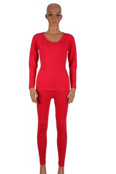 Thin men's thermal underwear set top modal Super silky women body fitness base fall clothing