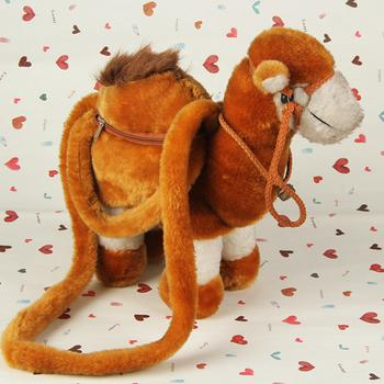Wholesale supply trade fills children's plush toys-Brown synthetic camel bag