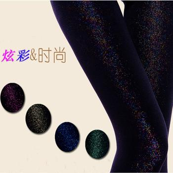Colorful silk and cashmere one single increase thick warm pants foot Leggings