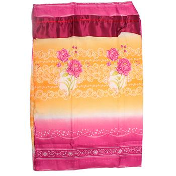 Factory outlets rose printed embroidered curtain fabric shade cloth